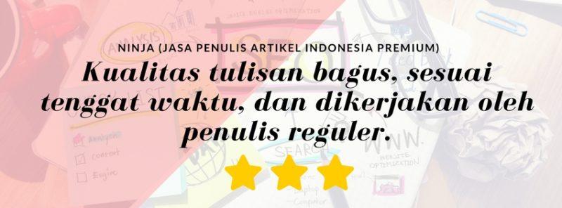 kontenesia jasa penulis artikel indonesia premium - ninja