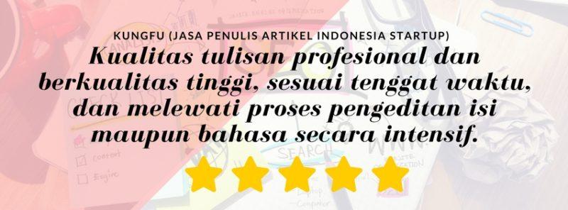 kontenesia jasa penulis artikel indonesia untuk startup - kungfu