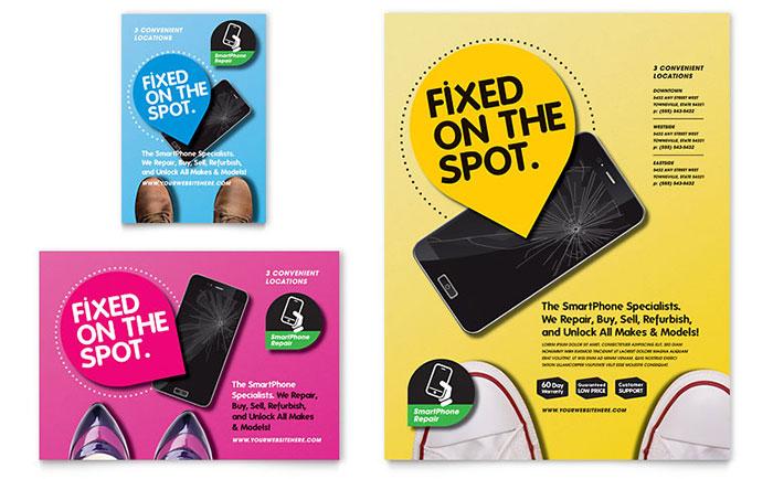salah satu portofolio jasa desain grafis kontenesia, desain flyer tentang merawat smartphone