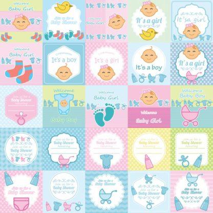 desain grafis baby shower kontenesia