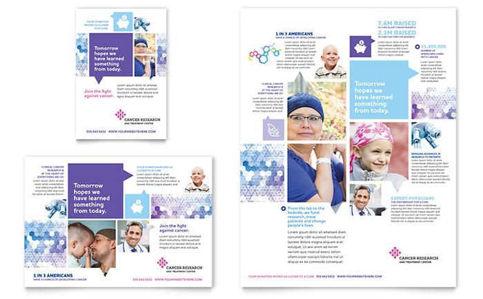 salah satu portofolio jasa desain grafis kontenesia, brosur mengenai penyakit kanker