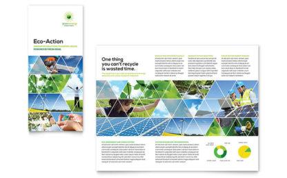 pamflet perusahaan energi jasa desain grafis kontenesia