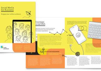 sosial media brosur desain grafis kontenesia