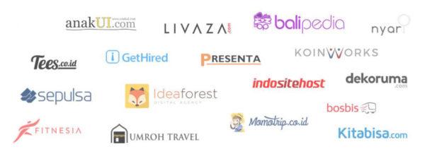 beberapa logo klien yang telah bekerjasama dengan kontenesia