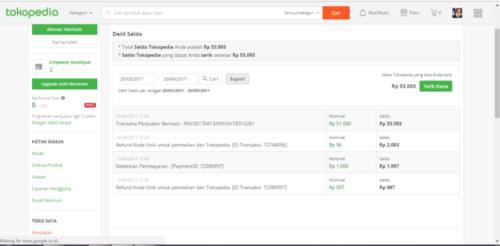 Terima Dana Hasil Penjuala - Cara Menjual Barang di Tokopedia