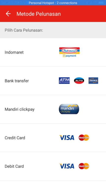 Pilih metode pembayaran - Cara Beli di Tokopedia