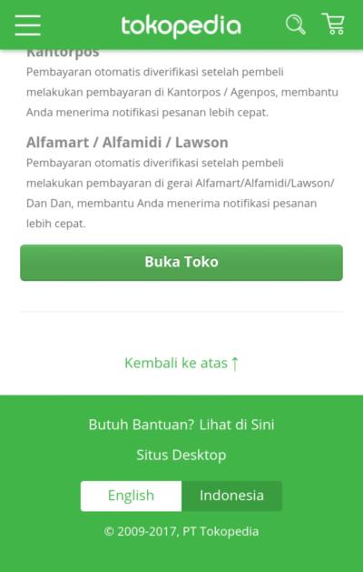 Registrasi dan Buka Toko Anda - Cara Menjual Barang di Tokopedia