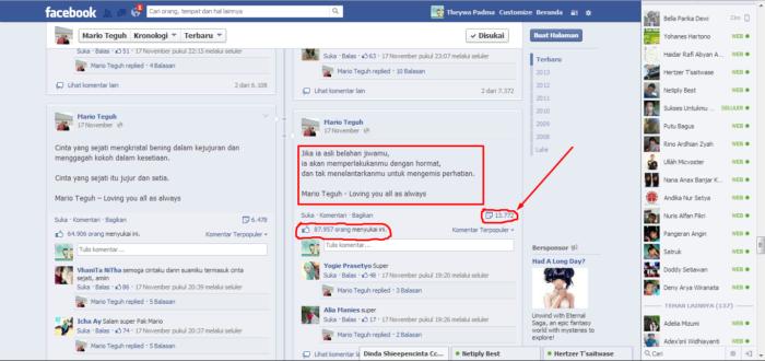 Berjualan Menjadi Lebih Mudah - caption Facebook