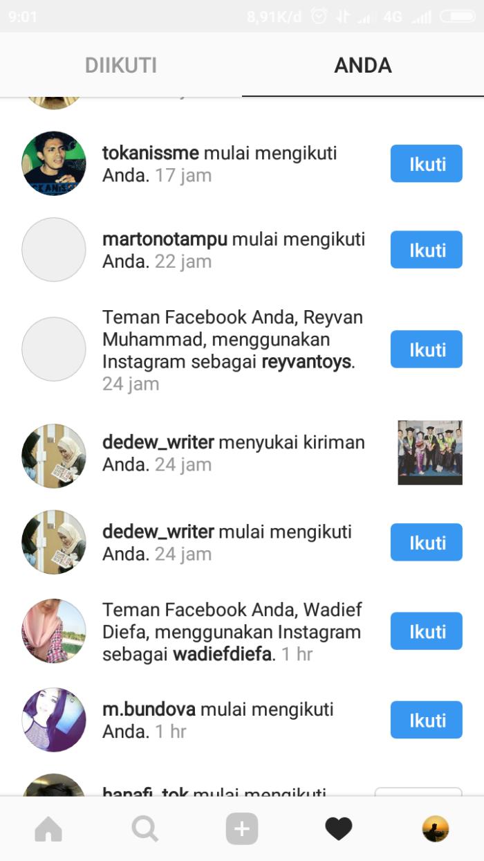 Menambah pengikut - caption untuk Instagram