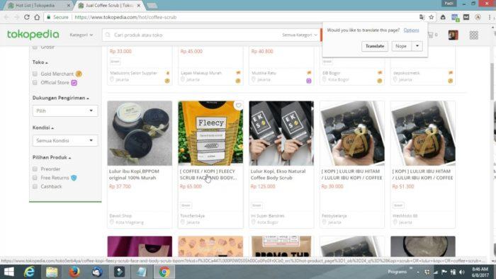 Optimalisasi search engine - contoh deskripsi produk