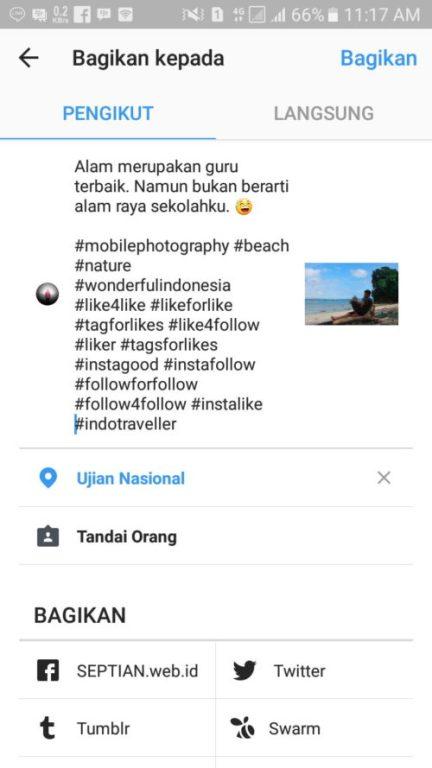 Bijak dengan Tanda Pagar - caption instagram