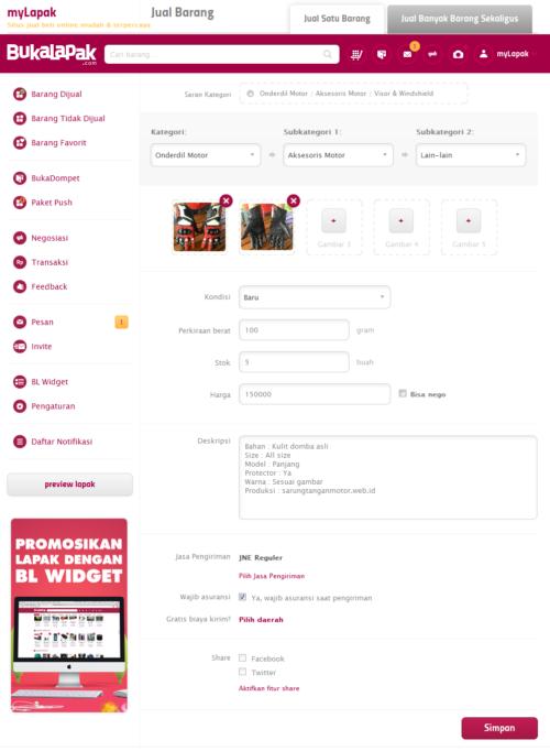 Unggah foto produk dan deskripsi - Cara Membuat Toko Online
