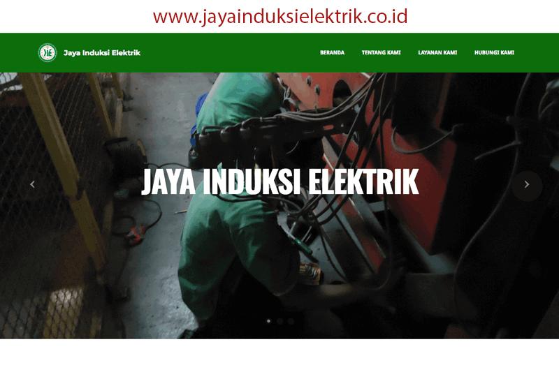 tampilan website jayainduksielektrik.co.id