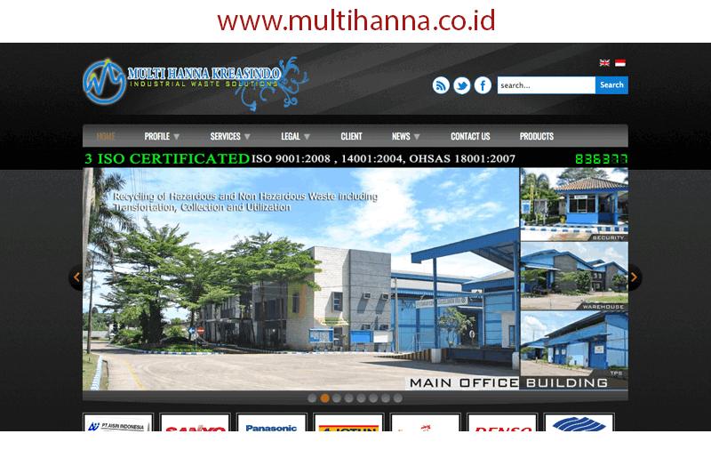 tampilan website multihanna.co.id