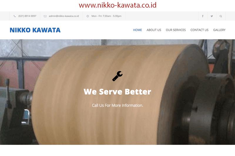 tampilan website nikko-kawata.co.id