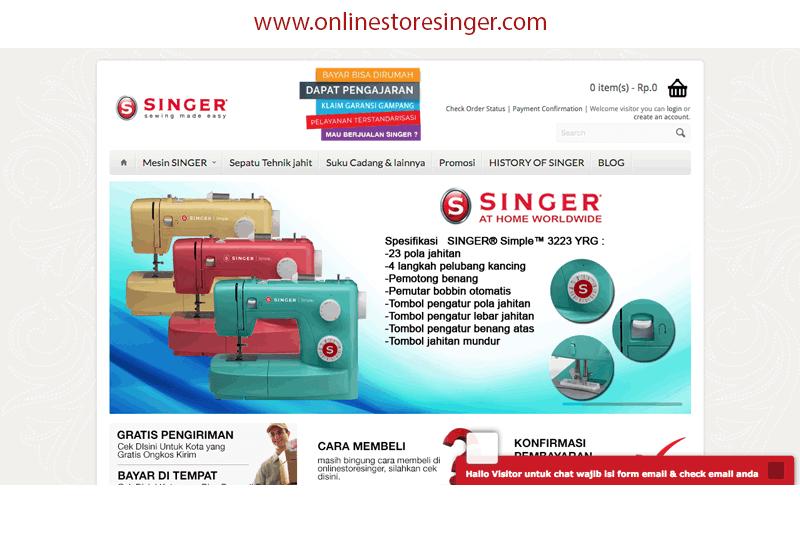tampilan website onlinestoresinger.com