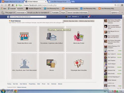 cara membuat fanspage facebook - image : ivanfr999.blogspot.com