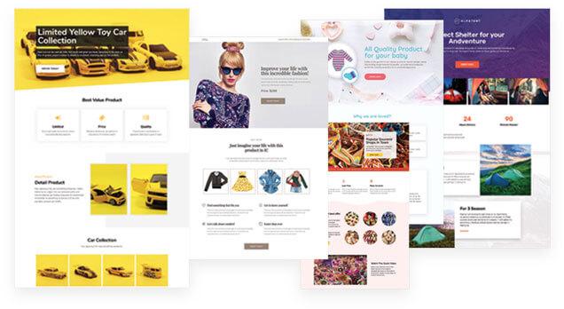 jasa pembuatan website - contoh landing page