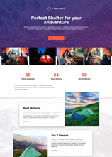 template website adventure dari tema laris manis