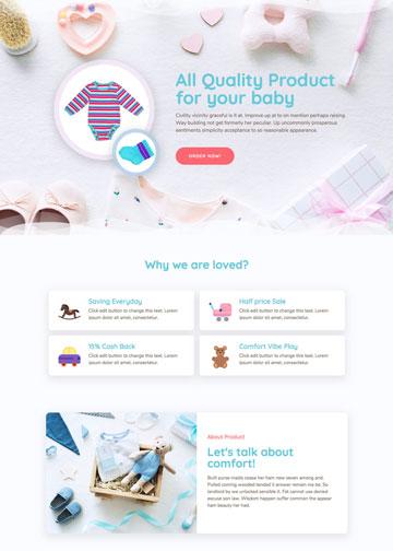 contoh tamplate website toko online perlengkapan bayi dari tema tokopress.id