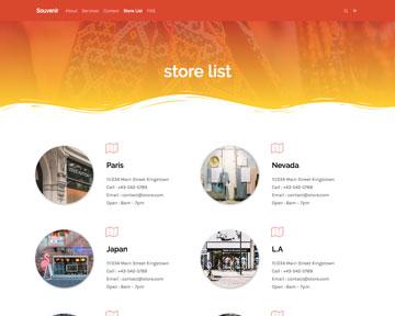 contoh template page alamat toko dari tema tokopress.id