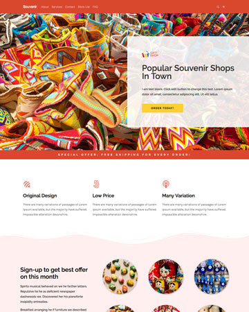 contoh tamplate landing page tokopress.id tema fashion