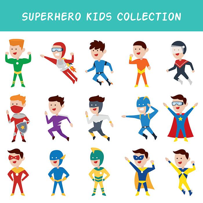 Salah satu portofolio jasa desain grafis kontenesia, gambar beberapa superhero
