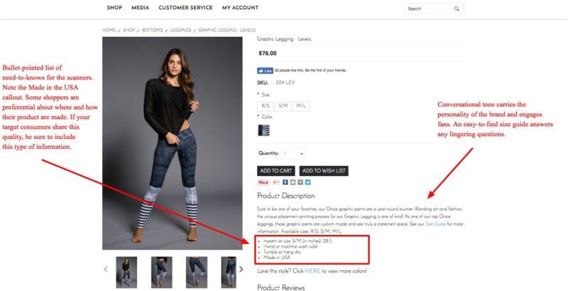 contoh deskripsi produk pada website