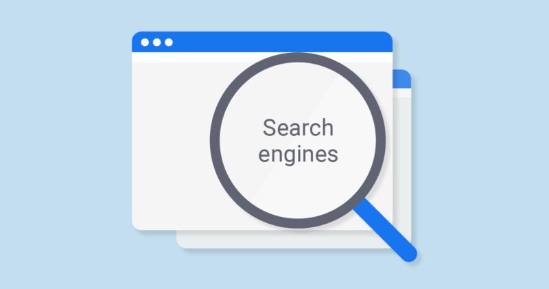 ilustrasi mesin pencari
