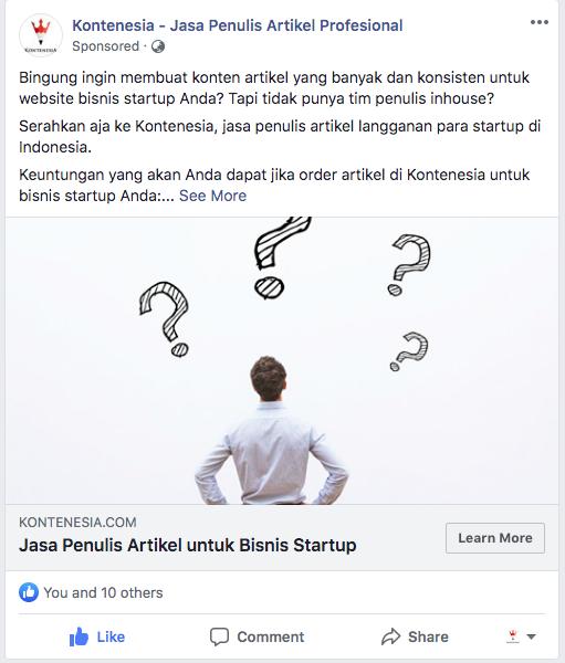 iklan facebook kontenesia