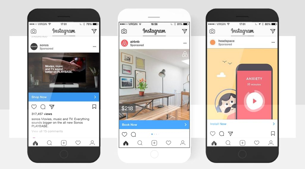 tampilan konten marketing di instagram